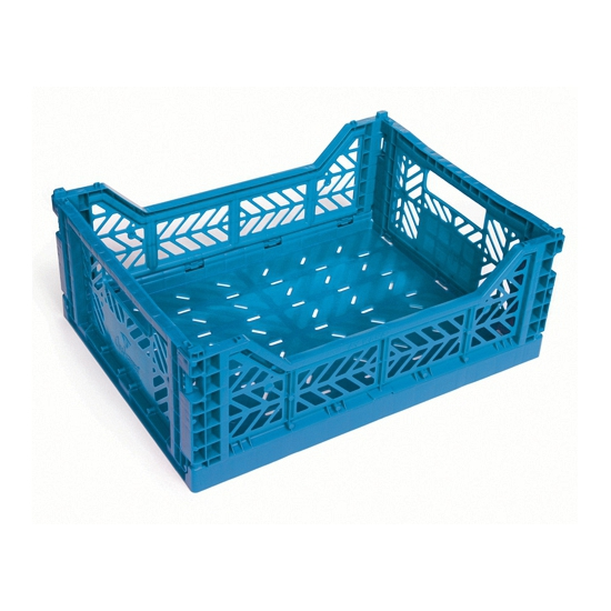 Mini boodschappenkratje blauw