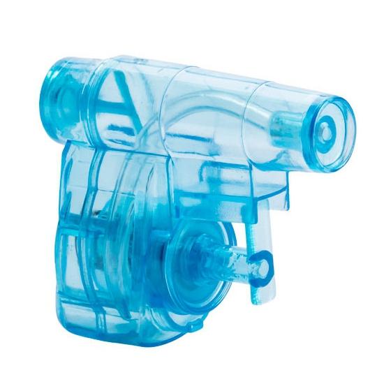 Mini hand waterpistool blauw 5 cm