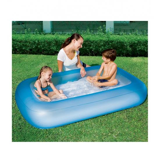 Opblaas zwembadje blauw