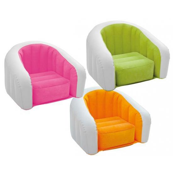 Opblaasbare Intex stoel wit/roze