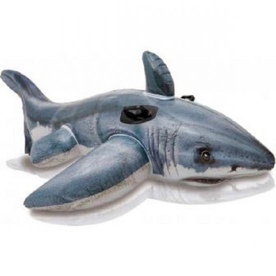 Opblaasbare Intex witte haai 173 cm