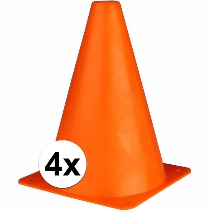 Oranje verkeerspionnen 19 cm