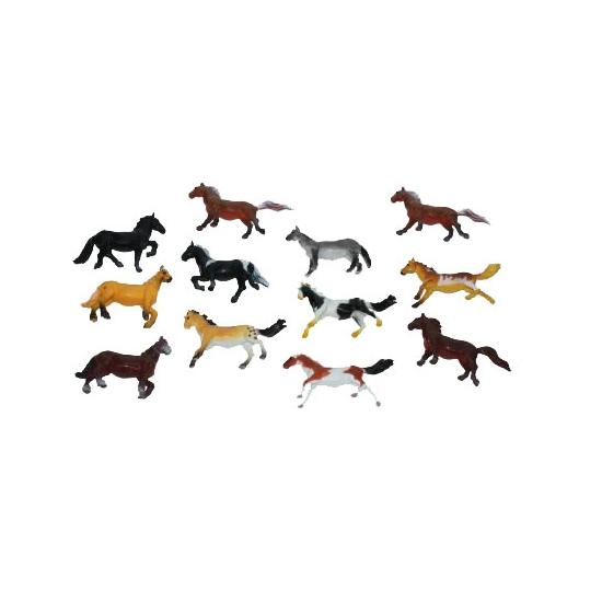 Paardjes gemaakt van plastic 6 cm