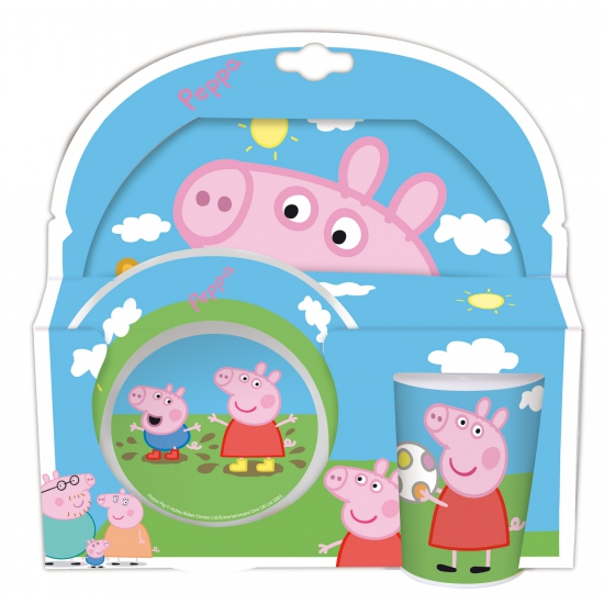 Peppa Big servies set 3 delig