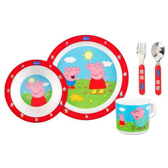 Peppa Pig eetservies 5 dlg