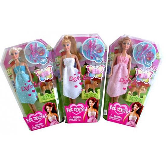 Pet World pop Lucy met roze jurk