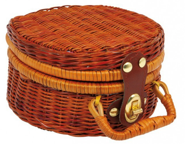 Picknick koffer met poppenservies