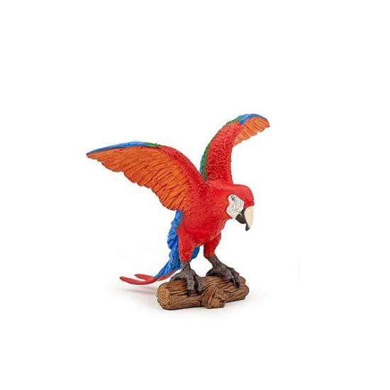 Plastic Ara papegaai 9 cm