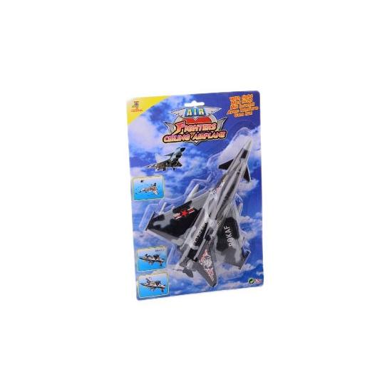 Plastic army speelgoed vliegtuig grijs