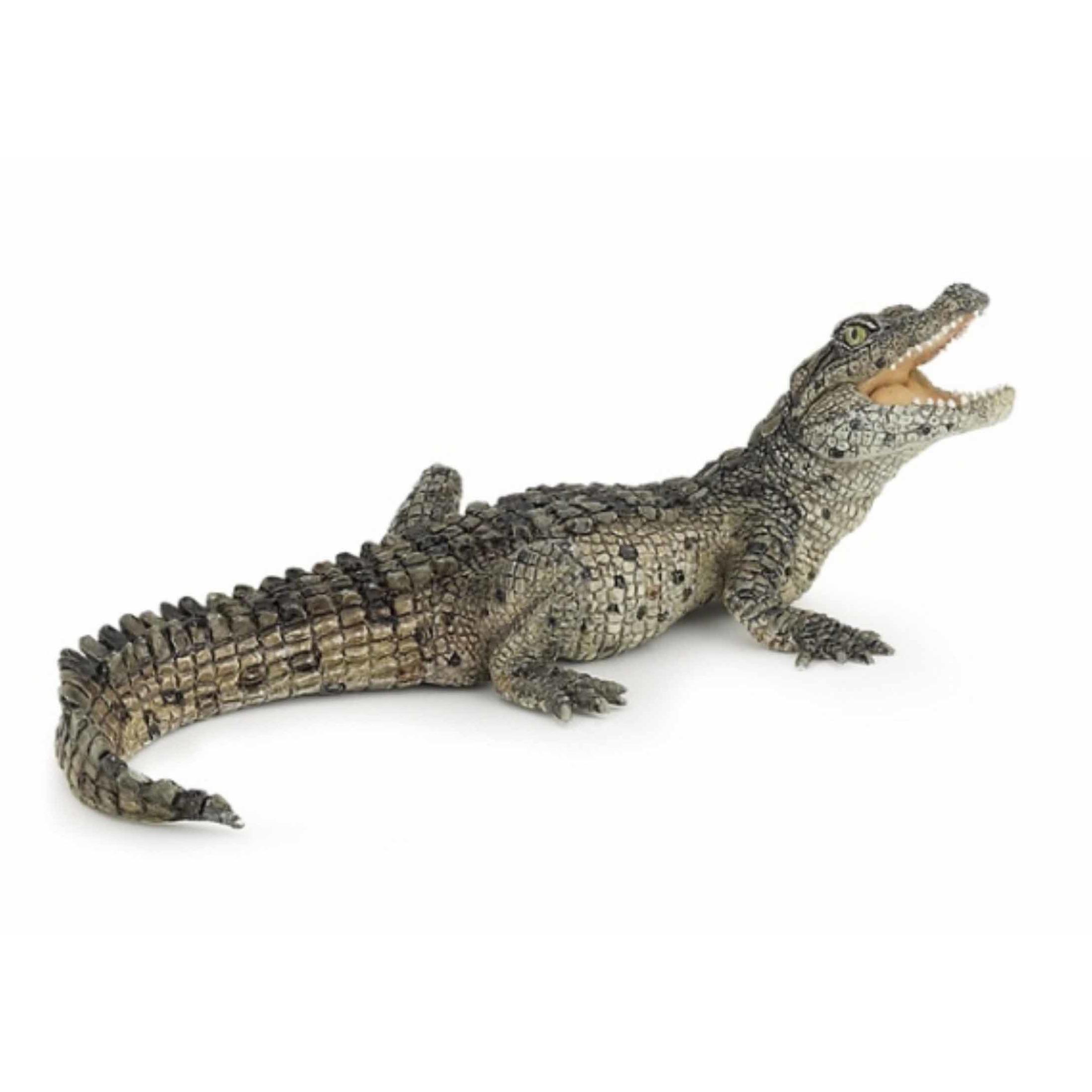 Plastic baby krokodil 10 cm