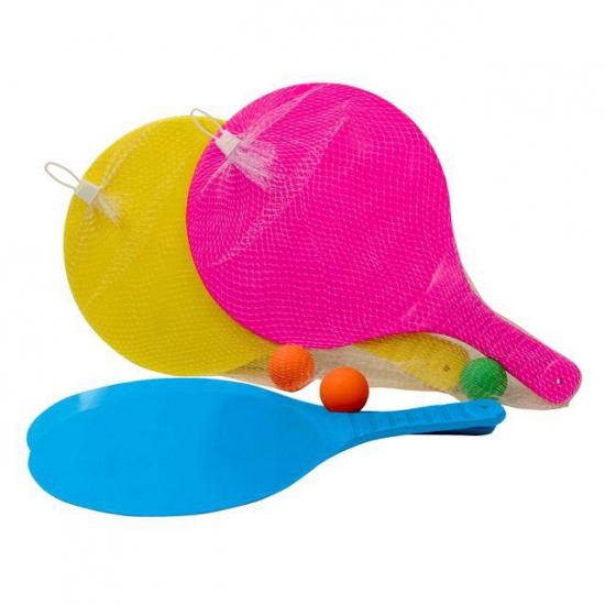 Plastic beachball setje