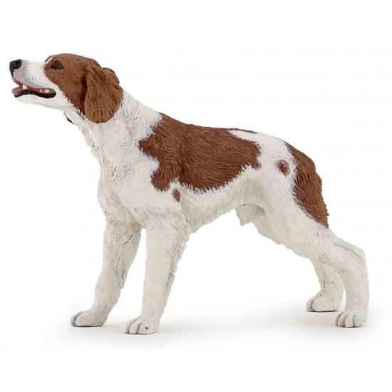 Plastic Bretonse jachthond 9 cm