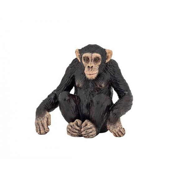 Plastic chimpansee 6 cm