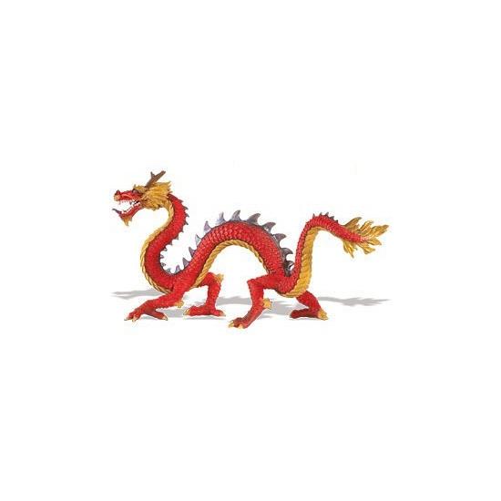 Plastic chinese draak speelgoed dier 19 cm