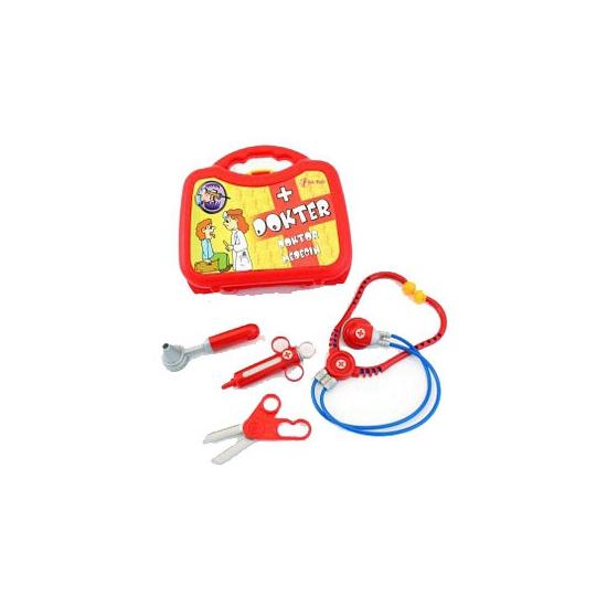 Plastic doktersinstrumenten in koffer