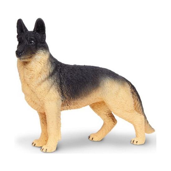 Plastic Duitse Herders hond 9 cm