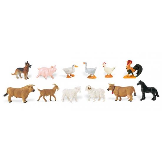 Plastic figuren van boerderij dieren