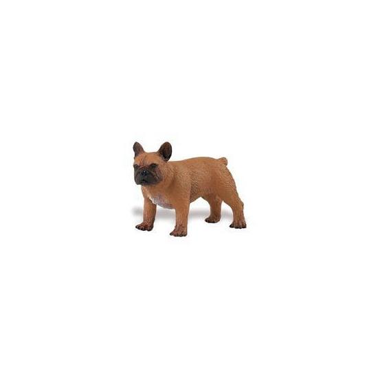 Plastic Franse Bulldog speelgoed dier 7 cm