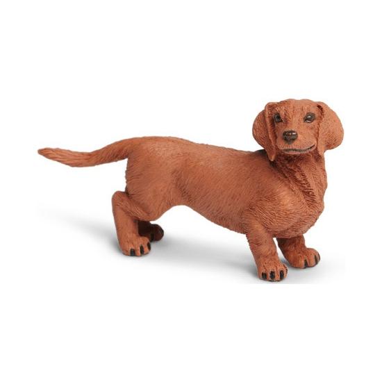 Plastic hond Teckel speelfiguur