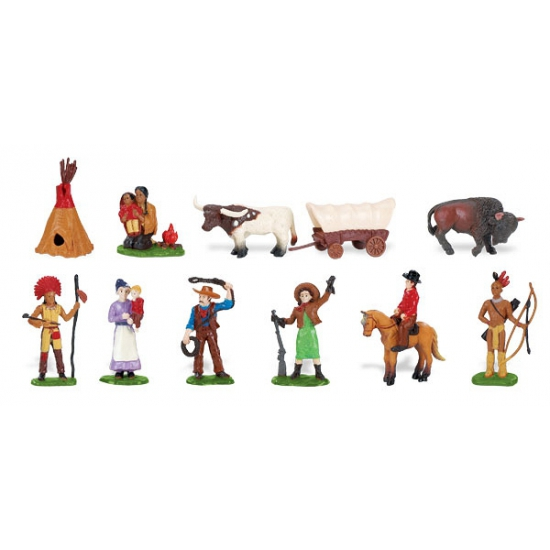 Plastic indianen en cowboys