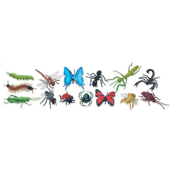 Plastic insecten 18 stuks