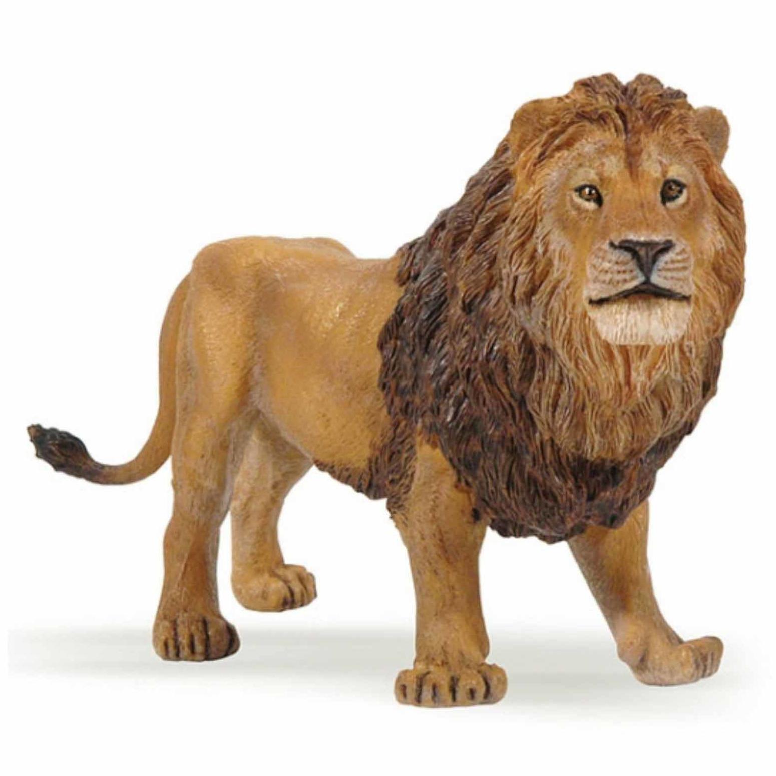 Plastic leeuw 14 cm