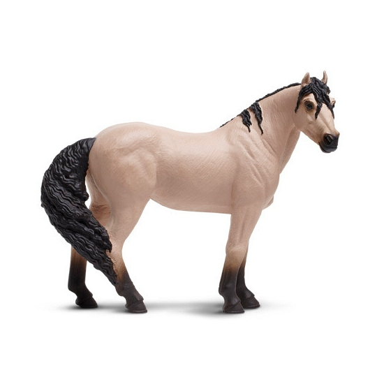 Plastic Mustang paard 12 cm