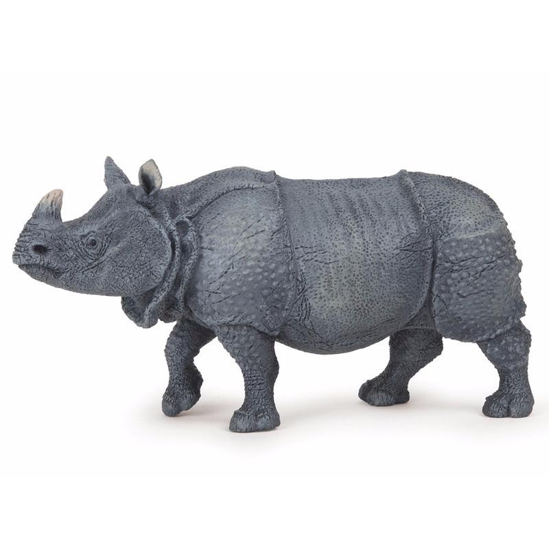 Plastic neushoorn 14 cm