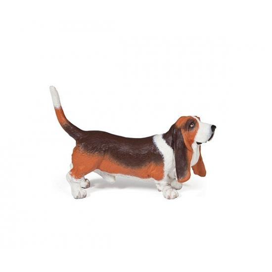 Plastic Papo dier Basset hond