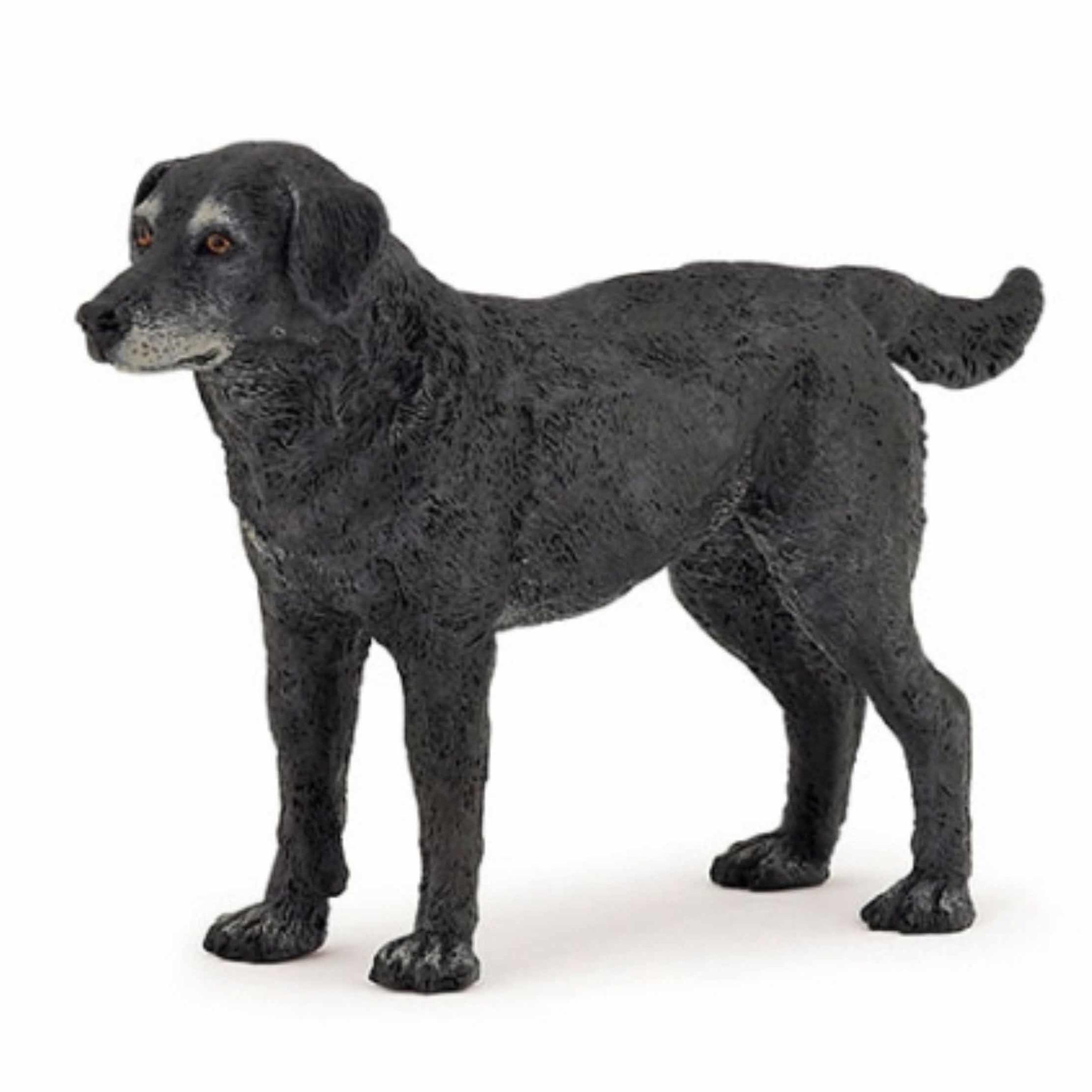 Plastic Papo dier zwarte hond