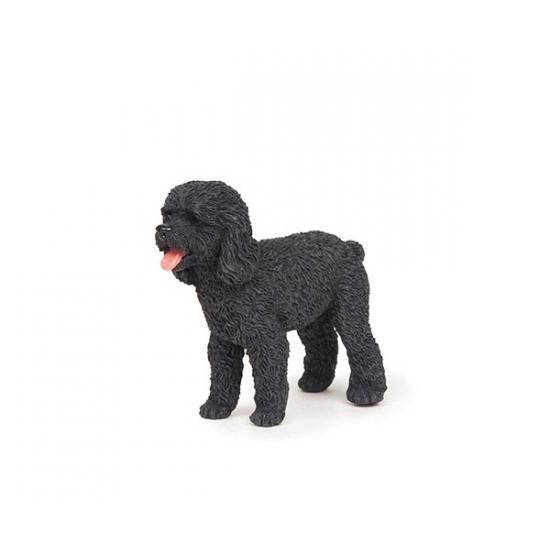 Plastic Papo dier zwarte poedel hond