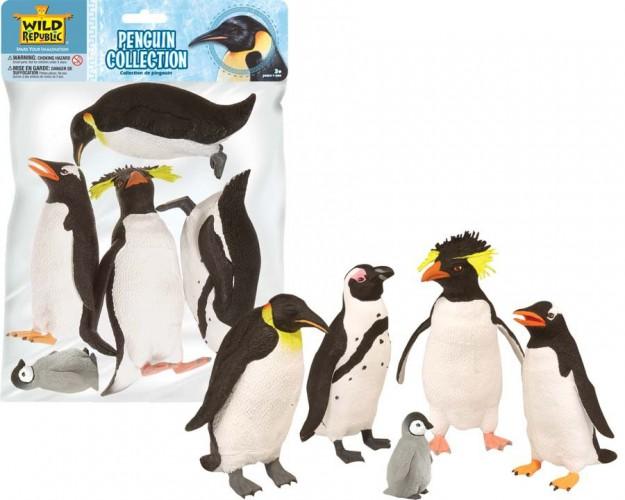Plastic pinguins 5 stuks