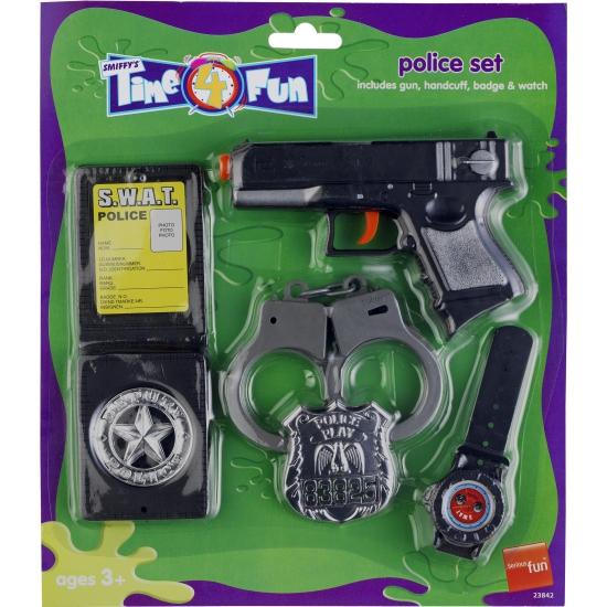 Plastic politie speelgoed set