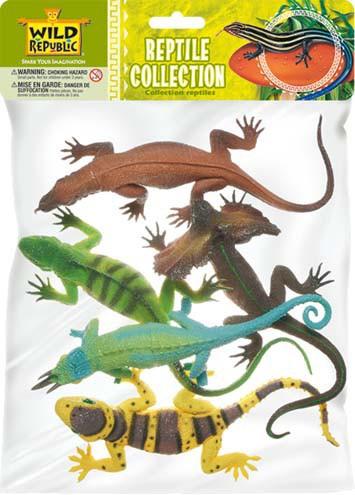 Plastic reptielen 5 stuks
