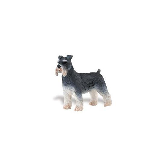 Plastic schnauzer hond speelfiguur 7 cm