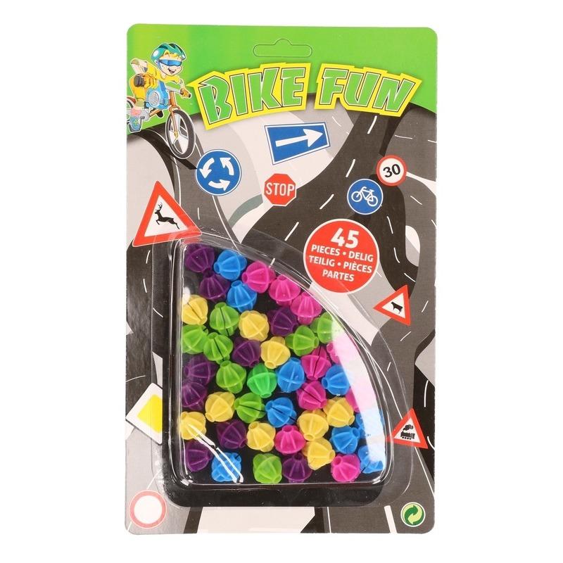 Plastic spaakkralen 36 stuks