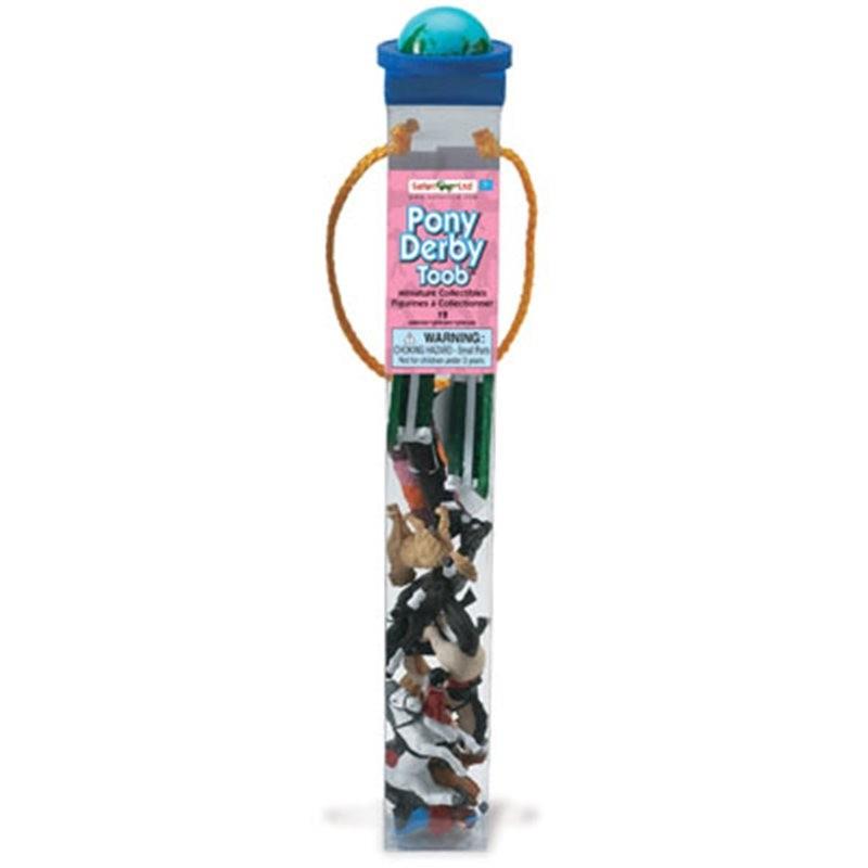 Plastic speelgoed spring ruiters