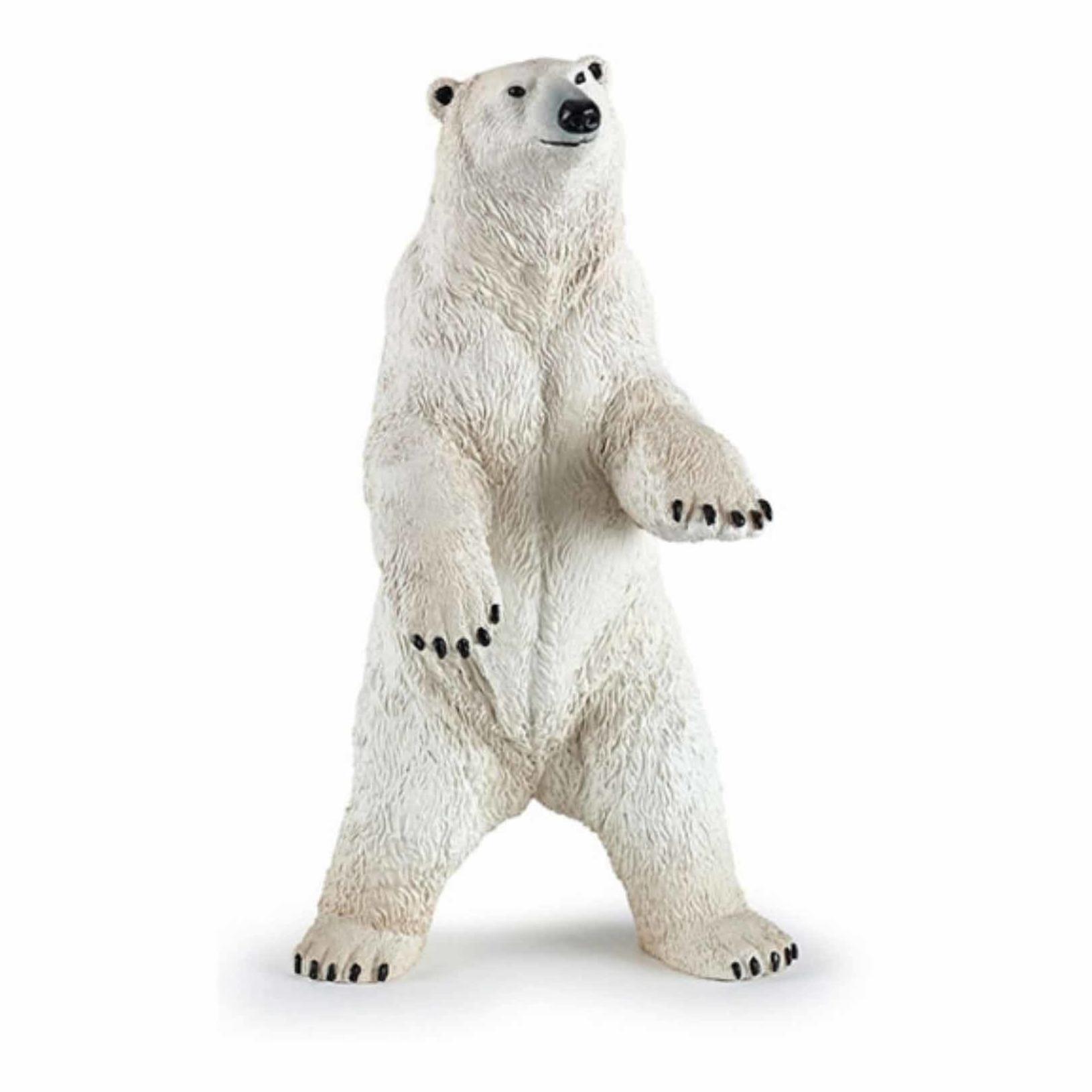 Plastic staande ijsbeer 7 cm