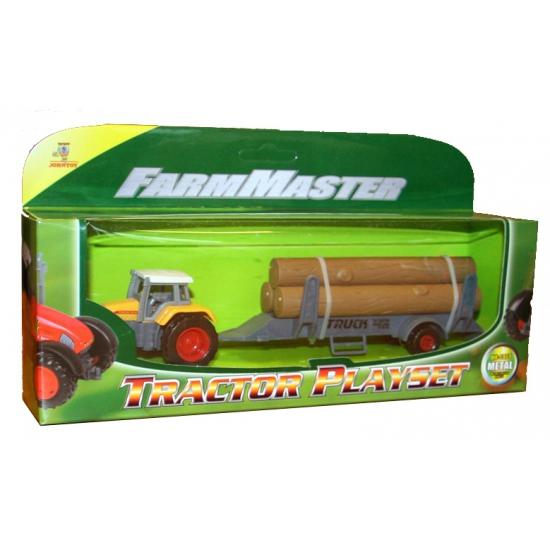 Plastic tractor geel