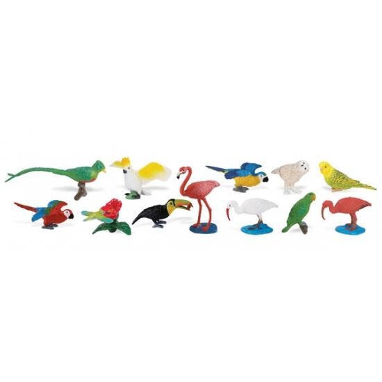 Plastic tropische vogels