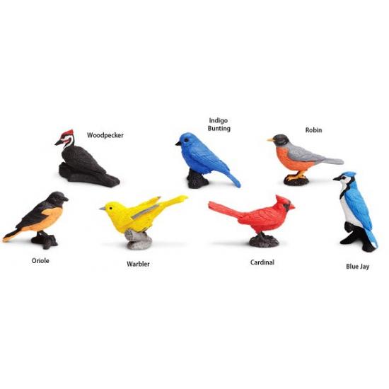 Plastic vogels speelgoed dieren