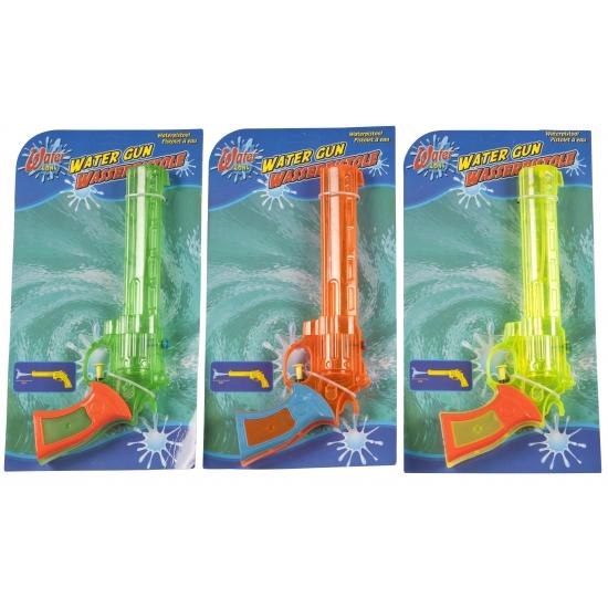 Plastic waterpistool gekleurd 28,5 x 12 x 4 cm