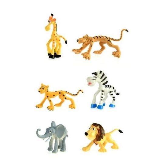 Plastic wilde dieren 6 stuks