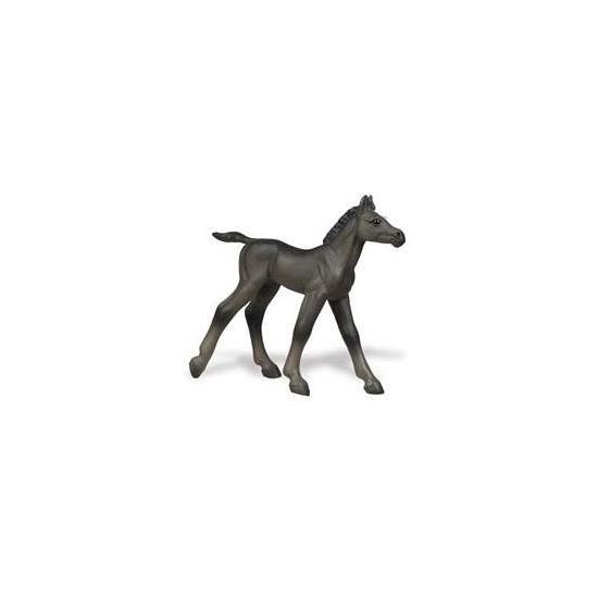 Plastic zwart veulen speelfiguur
