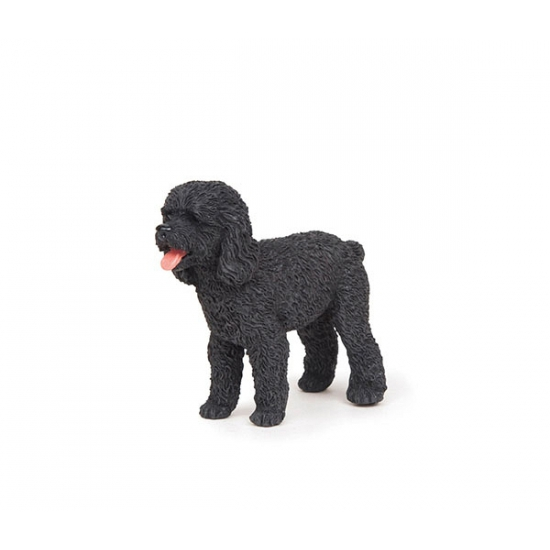 Plastic zwarte poedel 6 cm