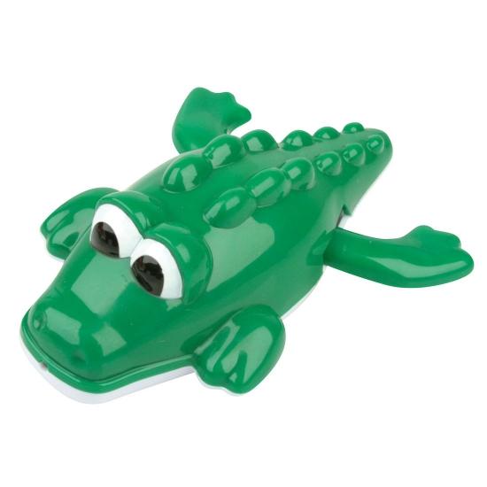 Plastic zwemmende krokodillen