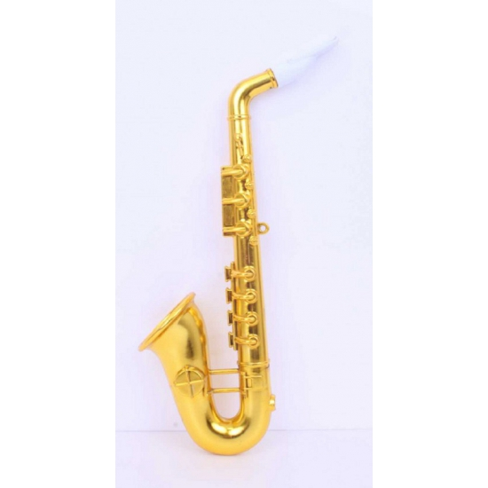 Platic saxofoons goud