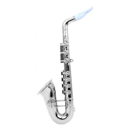 Platic saxofoons zilver