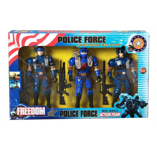 Politie action man figuren 3 stuks