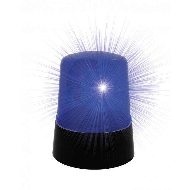 Politielamp met blauw licht